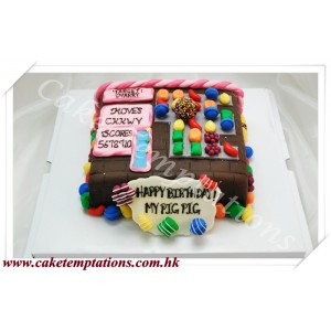 3D Candy Crush Cake