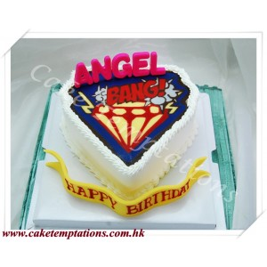 Big Bang Logo 2D Cake