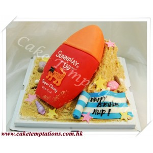 Sun Block Bottle 3D Cake