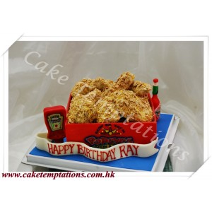 Popeyes Chicken Box 3D Cake