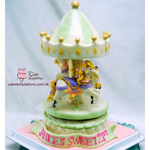 3D Mini Merry-Go-Around Cake