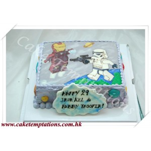 2D Stormtroope Vs Ironman Cake