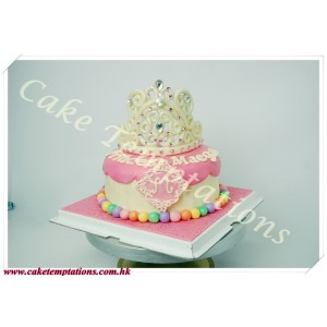 Beautiful Princess Tiara Cake
