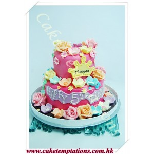 Beautiful flowers Birthday Cake