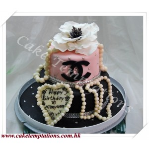 2 Layers Chanel Cake