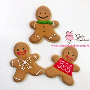 Xmas Gingerbread man Cookies (Full icing)
