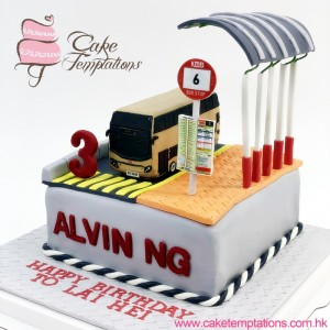 Bus Stop Cake with KMB Bus Cake