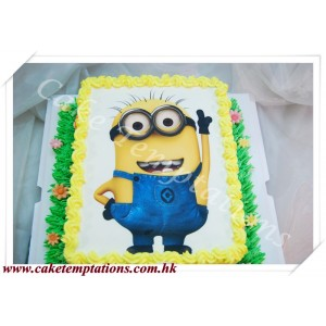 "Photo Cake-Despicable Me ""Minions"""