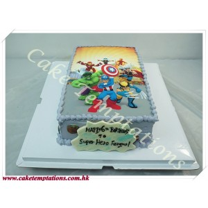 Photo print - Marvel's The Avengers Cake