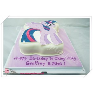 Twilight Sparkle (Pony) Photo Cake