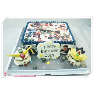 Photo print - Happy Memory with Gundam Cake