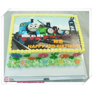 Photo Print - Happy Thomas Birthday Cake