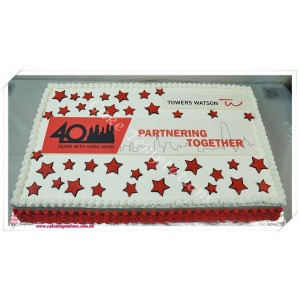 Photo Print- Company Logo Cake