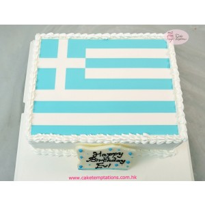 Photo Print - Flag of Greece Cake