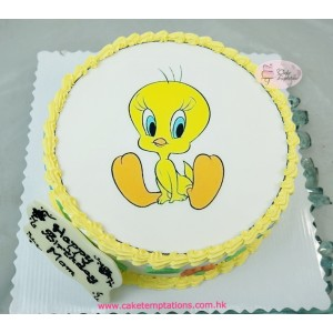 Photo Print- Tweety bird birthday cake
