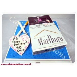 Photo-Printed Cake-Mini 3D Cigarette Box Cake
