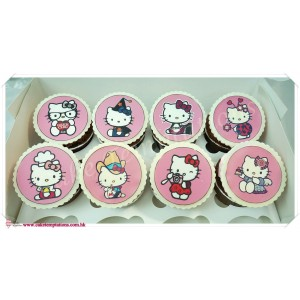 Photo Print Cupcake - Hello Kitty