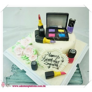 Make Up Accessories Cake