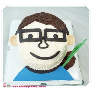 Semi-3D Man Head / Face Cake