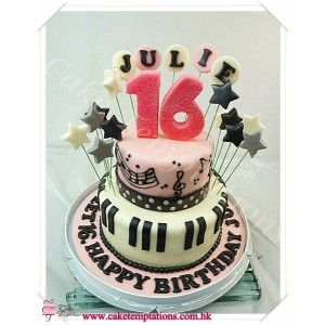 Happy Music Birthday Cake