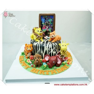 Animals Celebration Cake