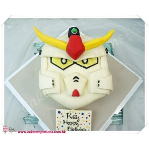 Semi-3D Gundam Head Cake