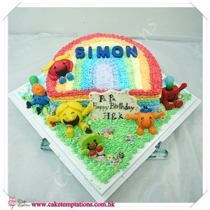 2D Beautiful Rainbow W. Little Miss Cake