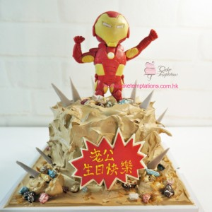 3D Cute Ironman Cake
