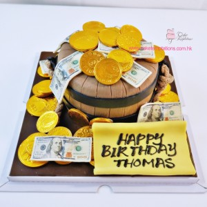 Money bucket Cake