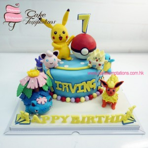 Pokemon collection cake