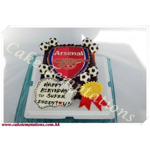Arsenal Logo 2D Cake