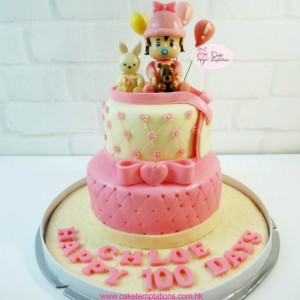 Sweet Baby Girl 100 Days cake