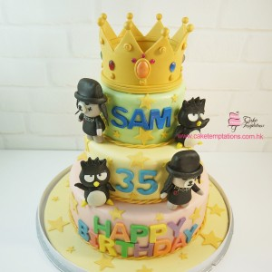 3 Tiers Crown Birthday Cake