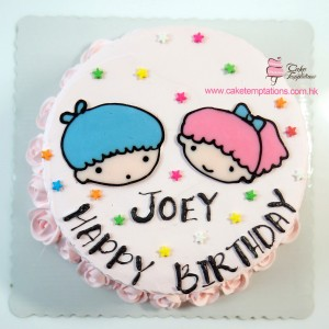 2D little twins star cake
