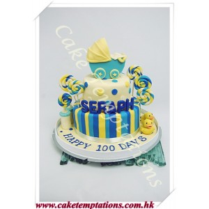 Baby Carriage 2 Layers Cake
