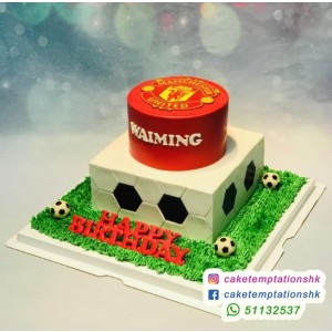 Manchester 2 tiers cake