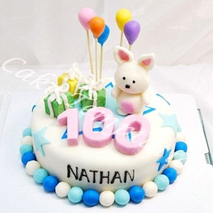 100 Days Rabbit Cake