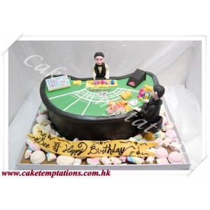 Baccarat Table Cake