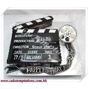 Clapper Movie Cake