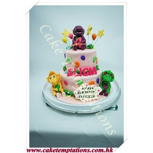Barney and Friends Happy Birthday Cake