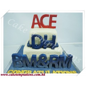 2 Layers Company Celebration Cake -ACE