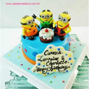 Minion Friends Birthday Cake