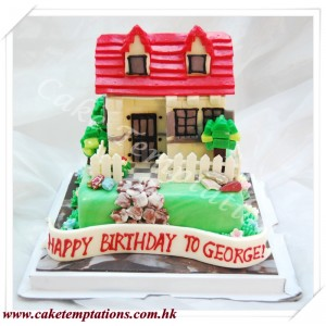 Mini LEGO House Cake