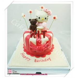 Hello Kitty & Bear Cake