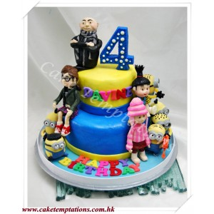 2-Layers Despicable Me Cake