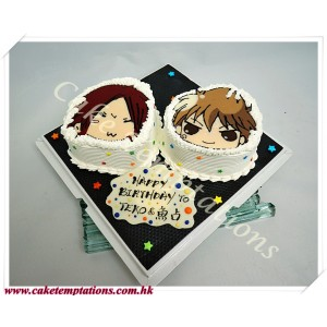 2D Face Picture Cake