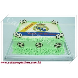 2D Real Madrid Birthday Cake