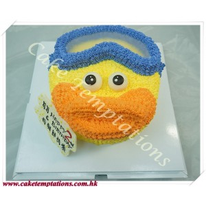 Timmy duck's head birthday cake