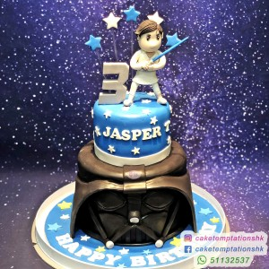2 Tiers Star Wars themed Cake