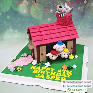 3D Three Little Pigs And The Big Wolf Cake